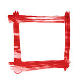 Square frame made with brush strokes Stock Photography