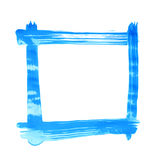 Square frame made with brush strokes Stock Image