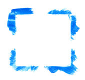 Square frame made with brush strokes Stock Photos