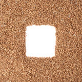 Square frame made of buckwheat Stock Photo