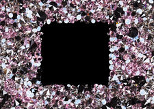 Square frame made from many small purple diamonds Stock Photography