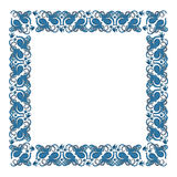 Square frame with an ornament of octopus and fish. Vector illustration Royalty Free Stock Photography