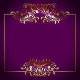 Square Frame Over Victorian Floral Royalty Free Stock Photos