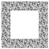 Square frame of patterns and leaves Stock Image