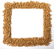 Square frame of pellets Royalty Free Stock Photos
