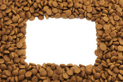 Square frame of pet (dog or cat) food for backgro Stock Image