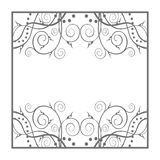 Square frame. Square plant ornate frame for the title Royalty Free Stock Image