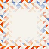 Square frame in red and blue colors, abstract geometric background pattern stock images