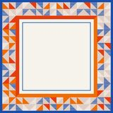 Square frame in red and blue colors, abstract geometric background pattern stock photos