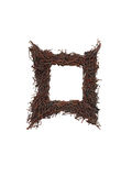Square frame rusted nails Royalty Free Stock Photo