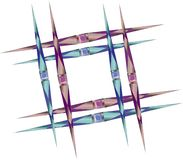 Square frame of sharp spears with gems royalty free illustration