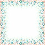 Square frame with stars. Royalty Free Stock Images