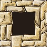 Square frame on stone seamless pattern Royalty Free Stock Photography
