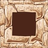 Square frame on stone seamless pattern Stock Image