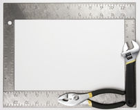 Square frame with tools Royalty Free Stock Photos