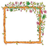 Square Frame with Tropical Plants Royalty Free Stock Photo