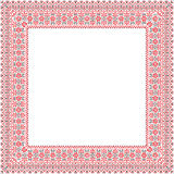 Square frame with Ukrainian ornament Stock Photography