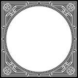 Square Frame Vintage Black stock image
