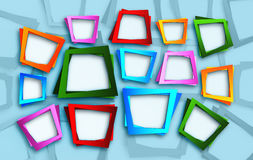 Square frames background. Abstract multicolored square frames background Stock Photography