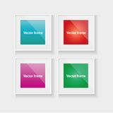 Square frames set with colorful abstract Royalty Free Stock Images