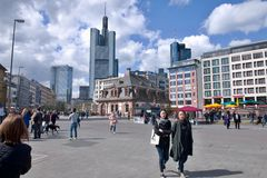 Square in Frankfurt Royalty Free Stock Images