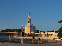 Square in front of the Basilica of Fatima Stock Photography