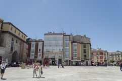 Square in front of Cathedral de Burgos Royalty Free Stock Photo