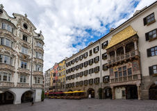 Square in front of the Golden Roof in Innsbruck, Austria Stock Photo