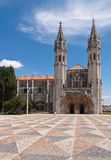 Square in front of Jeronimos monastery, Royalty Free Stock Images