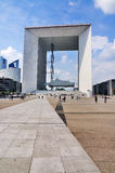 The square in front of La Grande Arche Stock Photos