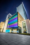 Square front of modern office buildings Royalty Free Stock Images