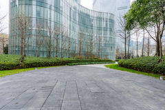 Square front of modern office buildings in Shanghai Stock Photo
