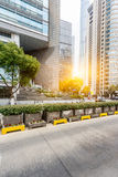 Square front of modern office buildings in Shanghai Stock Image