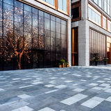 Square front of modern office buildings Royalty Free Stock Image
