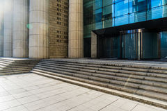 Square front of modern office buildings Royalty Free Stock Photography
