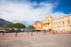 Square in front of prince residence in Monaco Royalty Free Stock Image