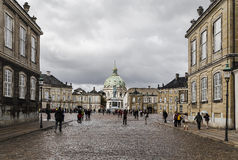 Square in front of the royal palace in Copenhagen Royalty Free Stock Photos