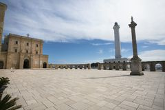 Square in front of Santa Maria di Leuca royalty free stock photography