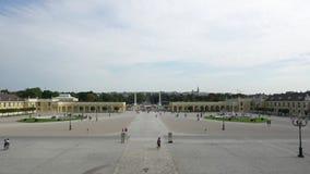 Schönbrunn Palace in Vienna stock footage