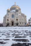 The square in front of St. Nicholas Cathedral Royalty Free Stock Images