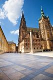 Square in front of St. Vitus Cathedral in Prague Royalty Free Stock Photography