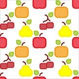 Square fruit pattern Royalty Free Stock Photos