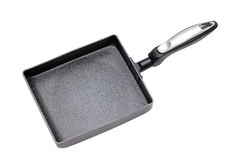 Square frying pan. Isolated on white background Stock Photography