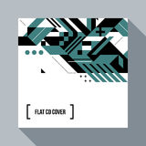 Square futuristic background/CD cover with abstract element Stock Images