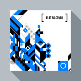 Square futuristic background/CD cover with abstract element Stock Photography