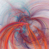 Square futuristic fractal background. Square colorful futuristic fractal background stock illustration