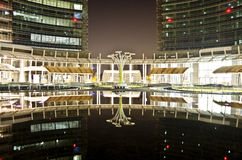 Square Gae Aulenti, Milan, Italy royalty free stock images