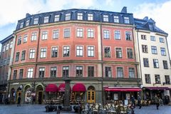 Square in Gamla Stan or Old Town, Stockholm, Sweden stock photography