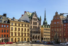 Square in Gamla Stan, Stockholm Royalty Free Stock Photo