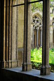 Square garden in Utrecht cathedral Stock Image